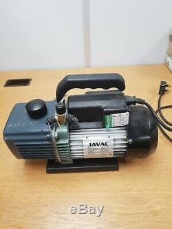 Javac 5 Cfm 2 Two Stage Air Conditioning A/C Refrigeration Vacuum Vac Pump CC141