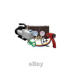 MasterCool Air Conditioning Technician Set vacuum pump, leak detector, gauges