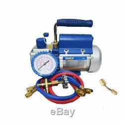 Metric Rotary Vane Deep Vacuum Pump 2.12CFM HVAC 150W 2PA Tool Air Conditioning