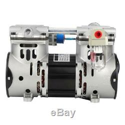 NEW 220V 260W Oilless Piston Vacuum Air Pump 680mmHg/-90.6kpa 60L/min