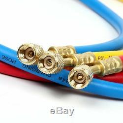 NEW! 3.5CFM/4CFM/5CFM 1/4HP Air Vacuum Pump HVAC Kit AC A/C Manifold Gauge