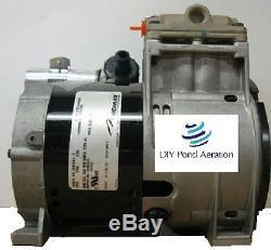 NEW THOMAS 1/2hp Piston Air Compressor/Vacuum Pump Fish Pond Aerator 100PSI