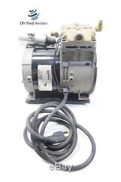 NEW THOMAS 688CE44 Piston Air Compressor/Vacuum Pump, Aerator, 1/3hp withCord