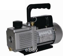 New 6.0 CFM Two 2 Stage 1/2HP Vacuum Pump AIR CONDITIONER REFRIGERATION