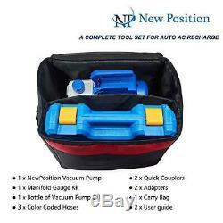 NewPosition 4CFM 1/3HP Air Vacuum Pump HVAC A/C Refrigeration Tool Kit AC with