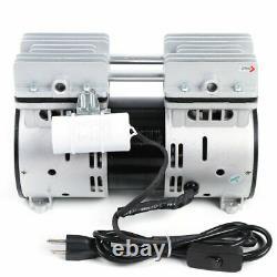 Oil-free Micro Air Diaphragm Pump 110V 550W 2A 67L/min Vacuum Flow -900mBar