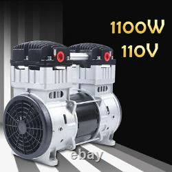 Oil-free Silent Air Pump Air Compressor with Silencer 7CFM Quiet 1100W 110V USA