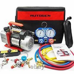 Portable 4CFM 1/3HP Air Vacuum Pump, HVAC R134a R12 R22 R502 A/C
