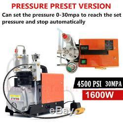 Preset Pressure 30MPA PCP Compressor Electric Air Pump High Pressure Auto Shut