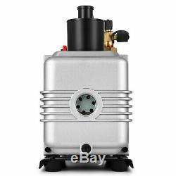 Pump Vane Vacuum Deep Rotary Single Stage 12CFM 1HP HVAC Tool Air Conditioning