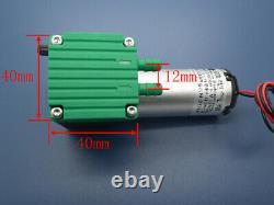 Quiet 12W Mini Vacuum Pump 12V/24V -75Kpa Diaphragm Air Pump 200Kpa 10L/M