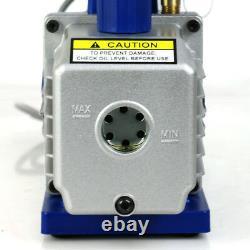 R134A AC Refrigeration Kit A/C Manifold Gauge & 1/4HP 3,5 CFM Air Vacuum Pump