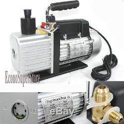 R410a 1-Stage 4.8 CFM Rotary Vane Vacuum Pump HVAC Air Condition Refrigerant