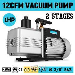 Refrigerant Vacuum Pump 12cfm 2-stage 1hp Rotary Vane 1/4 And 3/8
