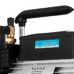 Refrigerant Vacuum Pump 12CFM 2-Stage 1HP Rotary Vane 1/4 and 3/8 Air HVAC AC