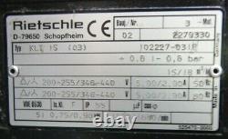 Rietschle Model KLT 25 Vacuum / Pressure Air Pump 230v Single Phase