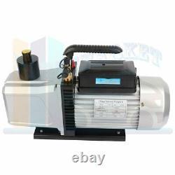 Rotary Vane Vacuum Pump 12 CFM Black 1 HP Air Conditioning A/C Deep AC HVAC