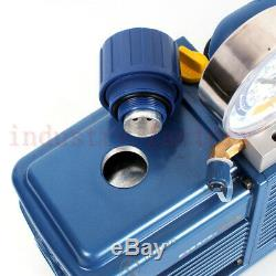 Rotary Vane Vacuum Pump 2 Stage 4.24CFM 1/2HP For Air Conditioning Refrigerator
