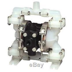 SANDPIPER PB 1/4, TS3PP. Double Diaphragm Pump, Polypropylene, Air Operated