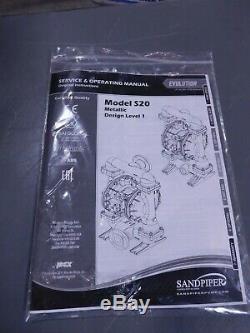 Sandpiper Metallic Air Operated Diaphragm Pump, 2 NPT S20B1A1EANS100