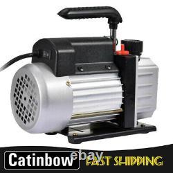 Single Stage 4CFM 1/4HP Rotary Vane HVAC Vacuum Pump Air A/C R134a, R410a 110V