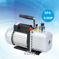 Single Stage Deep Rotary Vane 9CFM 3/4HP Vacuum Pump HVAC AC Air Conditioning