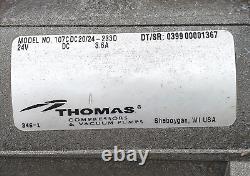 THOMAS 24 volt 107CDC20/24-233D DIAPHRAGM AIR COMPRESSOR VACUUM PUMP FREE SHIP