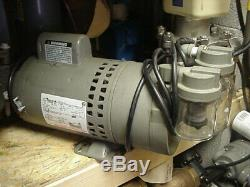 Thomas 3/4hp oil-less rotary Air Vacuum Pump pond septic aerator 115/230vac GAST