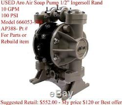 USED Aro AP388 Air Soap Pump 1/2, 10 GPM, 100 PSI, Urethane Aro Ingersoll Rand