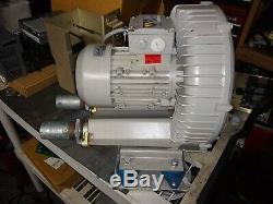 Used ELMO-G 2BH100-7AK02 regenerative ring air blower vacuum 208/230v 3ph