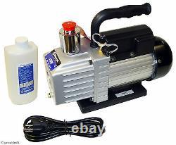 VACUUM PUMP, 3-CFM rotary vane HVAC air conditioning evacuation pumps a/c