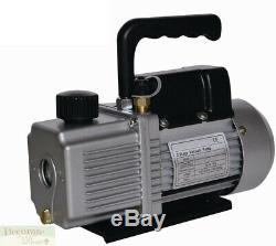 VACUUM PUMP AIR CONDITIONER REFRIGERATION 9.0 CFM 2 Stage 1 HP HVAC/R 110v New