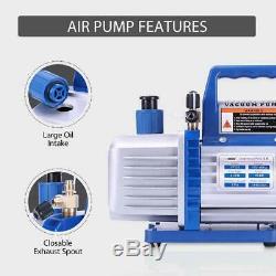 VIVOHOME 4 CFM Vacuum Pump HVAC Refrigeration AC Manifold Gauge R134A R502 Kit