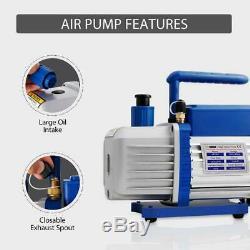 VIVOHOME Combo 1/4HP 3.5CFM Air Vacuum Pump HVAC R134A R12 AC Manifold Gauge Set