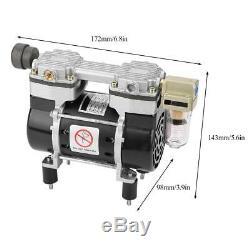 VN-40V Oil-Free Air Compressor Motor Mini Vacuum Built-in Silencer Pump 130W