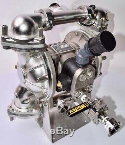 Warren Rupp, Sandpiper, SSB1-A TYSS, Air-operated Diaphragm Pump, SWAGELOK White