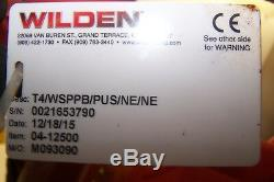 Wilden 1-1/4 T4 Stainless Steel Air Operated Double Diaphragm Pump 04-12500