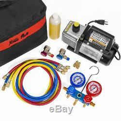 XtremepowerUS 3CFM 1/4HP Air Vacuum Pump HVAC R134a R12 R22 R410a A/C Kit AC