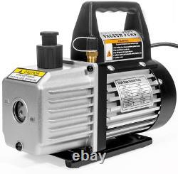 XtremepowerUS 3CFM or 4CFM Air Vacuum Pump HVAC A/C Refrigeration Kit AC Gauge