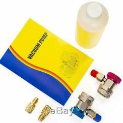 Xtremepowerus 3Cfm 1/4Hp Air Vacuum Pump Hvac R134A R12 R22 R410A A/C Refrigerat