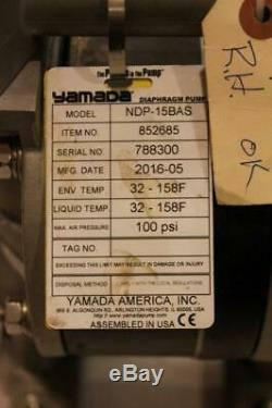 YAMADA NDP-15BAS Air Powered Double Diaphragm AODD PUMP