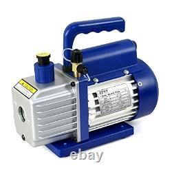 ZENY 4CFM 1/3HP Electric Vacuum Pump Refrigerant R410a R134a HVAC Deep Vane Air